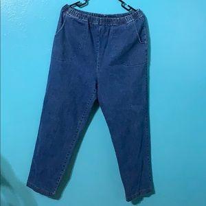 Croft&barrow elastic waist blue jeans 👖stretch XL